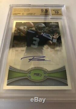 2012 Topps Chrome Russell Wilson Autograph Auto Signed Rookie Seahawks BGS 9.5