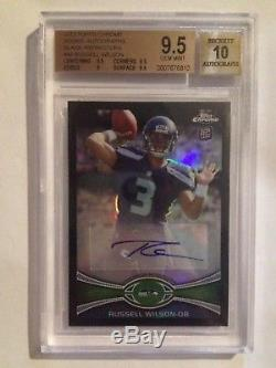 2012 Topps Chrome Russell Wilson Black Refractor Auto RC #11/25 BGS 9.5/10 Sp