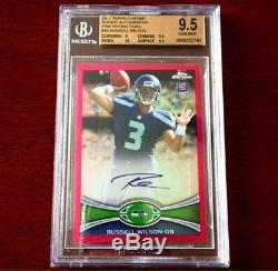 2012 Topps Chrome Russell Wilson Pink Refractor Auto RC # 04/75 BGS 9.5/10 RC