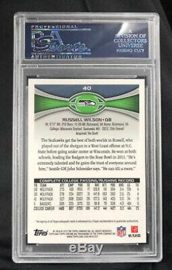 2012 Topps Chrome Russell Wilson RC Auto PSA 10 Amazing Card MVP Candidate