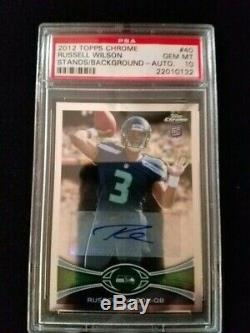 2012 Topps Chrome Russell Wilson RC Auto PSA10 NEW LOWER PRICE