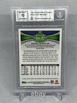 2012 Topps Chrome Russell Wilson Rookie Variation Auto BGS 9 Mint Seahawks RARE