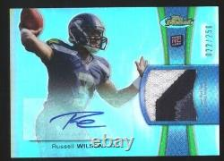 2012 Topps Finest RUSSELL WILSON Patch Auto 22/250 Rookie Rc Seahawks