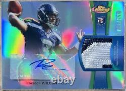 2012 Topps Finest RUSSELL WILSON RPA Rookie Patch Auto /250 Sick Patch RARE