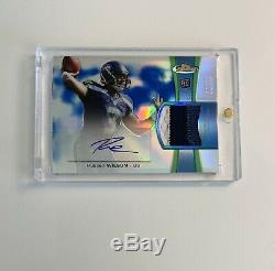 2012 Topps Finest RUSSELL WILSON Rookie Patch Auto /99 RPA RC