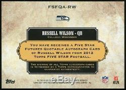 2012 Topps Five Star Russell Wilson Auto 17/25 Seahawks Dangeruss FSFQA-RW