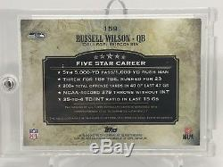 2012 Topps Five Star Russell Wilson Seahawks RPA 3-Color Patch AUTO /55