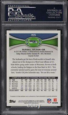 2012 Topps Football Russell Wilson ROOKIE RC AUTO #165 PSA 10 GEM MINT