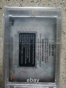 2012 Topps Inception Russel Wilson Rookie Auto 74/75