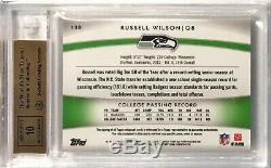 2012 Topps Platinum RUSSELL WILSON /250 Refractor Rookie Patch Auto BGS 9.5/10