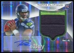2012 Topps Platinum RUSSELL WILSON Seahawks 2-Color Rookie Patch Auto #138 /250