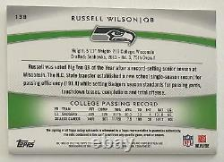 2012 Topps Platinum Russell Wilson Auto Patch /250 RC Seahawks
