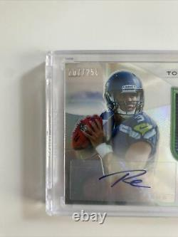 2012 Topps Platinum Russell Wilson Autograph Jersey Rookie Card RC Auto /250