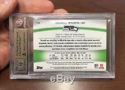 2012 Topps Platinum Russell Wilson ROOKIE Patch Auto JERSEY #3/25 RPA RC BGS 9.5