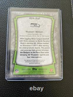 2012 Topps Premiere Russell Wilson Rookie RC Auto Autograph 26/90 Seahawks