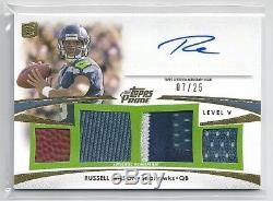 2012 Topps Prime Level 5 Gold RUSSELL WILSON Auto GU #/25 Seattle Seahawks RC