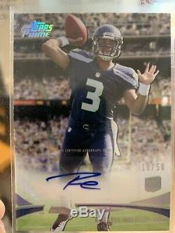 2012 Topps Prime Russell Wilson Rookie Auto # 19/50
