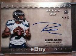 2012 Topps Russell Wilson Rookie Auto Team Logo Five Stars RPA /40