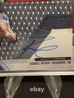 2012 Topps Strata Russell Wilson Clear Cut Red Rookie 3 Color Patch Auto #/30