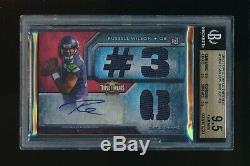 2012 Topps Triple Threads Russell Wilson Auto Relic RC BGS 9.5 GEM MINT Seahawks