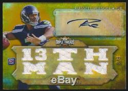 2012 Topps Triple Threads Russell Wilson Jersey Auto Autograph Gold /9