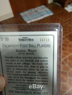 2012 Topps Turkey Red Russell Wilson Ssp Rc Red Auto Rookie #10/10 Seahawks