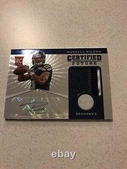 2012 Totally Certified Russell Wilson Autograph Jersey Rookie Card RC Auto /49
