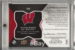 2012 UD Exquisite Russell Wilson Gold Patch Auto RC #127 17/50