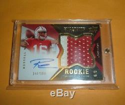 2012 UD Exquisite Russell Wilson ROOKIE Rare Patch Auto /150