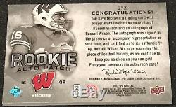 2012 Ud Sp Authentic Russell Wilson Auto Autograph Jersey Patch Rc /885 Seahawks