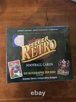 2012 Upper Deck Fleer Retro Football SEALED Hobby box 6 Autos RUSSELL WILSON RC