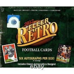 2012 Upper Deck Fleer Retro Football Sealed 6 Box Case(36 Autos)Wilson, Foles RC