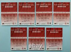 2012 Upper Deck Russell Wilson Auto Lettermen BADGERS 7 Card Set Lot /45