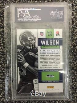 2012 contenders Russell Wilson auto PSA 10