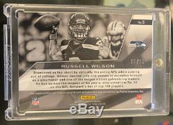 2013 Panini Spectra #5 Russell Wilson Jersey On Card Auto Blue #15/15 Seahawks