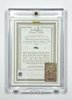 2014 Flawless Russell Wilson Gold, Game-Worn Patch Auto/Autograph 10/10
