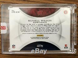 2015 Immaculate Past And Present Russell Wilson Auto 16/25 Seattle Seahawks