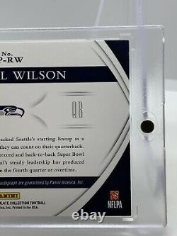 2015 Immaculate Russell Wilson Auto Game Worn Patch #05/10 Seahawks MVP HOF