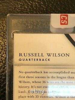 2015 Immaculate Russell Wilson Autograph #5/5 Auto READ condition DETAILS