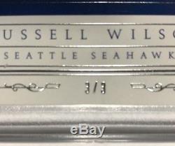 2015 National Treasures RUSSELL WILSON Jumbo On Card Auto Book 3/3 Jersey # 1/1