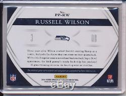 2015 Panini Immaculate RUSSELL WILSON Premium Patch Auto Jersey /25 SEAHAWKS