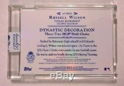 2015 Topps Dynasty RUSSELL WILSON Jersey Patch Relic Auto Texas Rangers #1/10