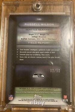 2015 Topps Field Access Russell Wilson Auto 2/50