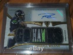 2015 Topps Triple Threads Russell Wilson 14/18 Auto
