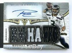 2015 Triple Threads Russell Wilson Andrew Luck Auto Patch GU Booklet /36 Rare