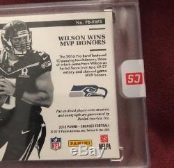 2016 Encased Russell Wilson Auto One Of One Pro Bowl Laundry Tag! 1/1 Gem sealed
