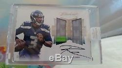 2016 Flawless Russell Wilson 3 Color Patch Auto Encased /10