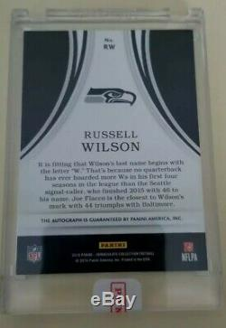 2016 Immaculate Eye Black Russell Wilson Auto 09/25