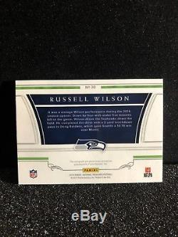 2016 National Treasures Russell Wilson NFL Shield Patch Auto 1/1 Seahawks READ