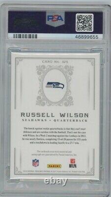 2016 National Treasures Russell Wilson PSA 9 Patch AUTO /10 Retro 2012 Style